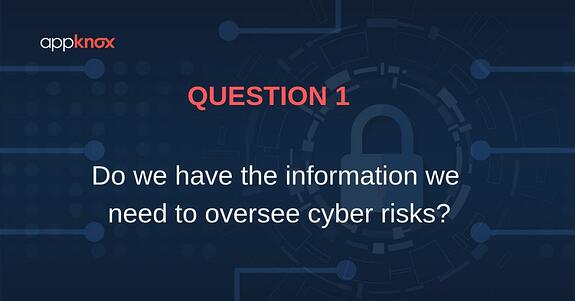 Do we have the information we need to oversee cyber risks?