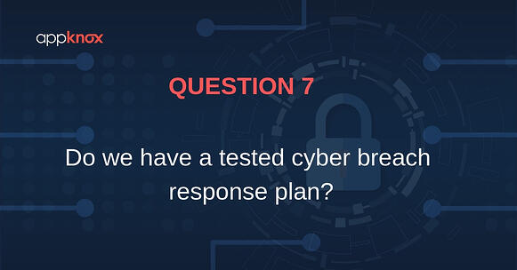 Do we have a tested cyber breach response plan?