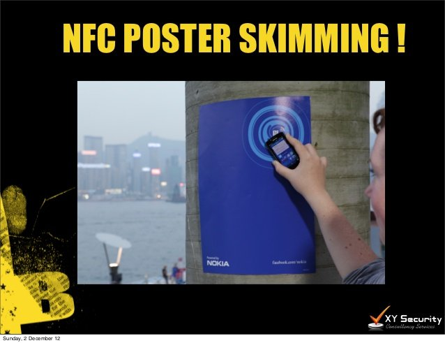 NFC poster skimming
