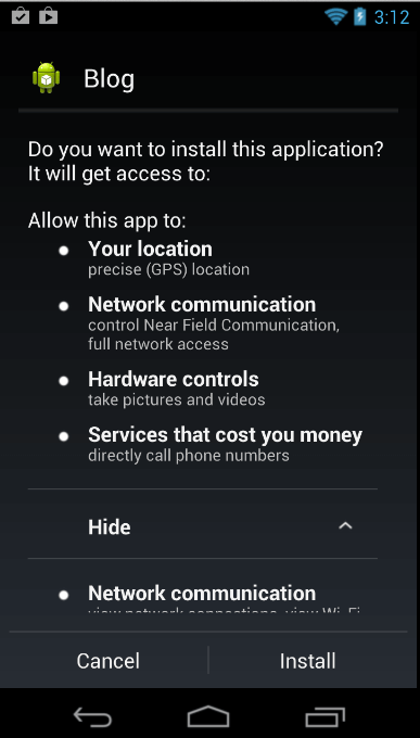 Apps having lot of permission