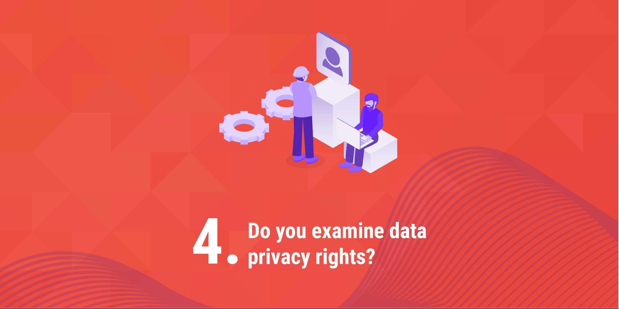 4. Do you examine data privacy rights?