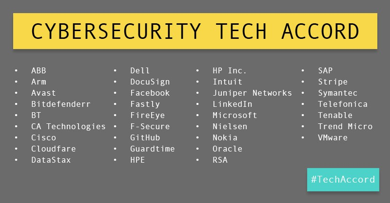 Extending Support To The Microsoft Cybersecurity Tech Accord