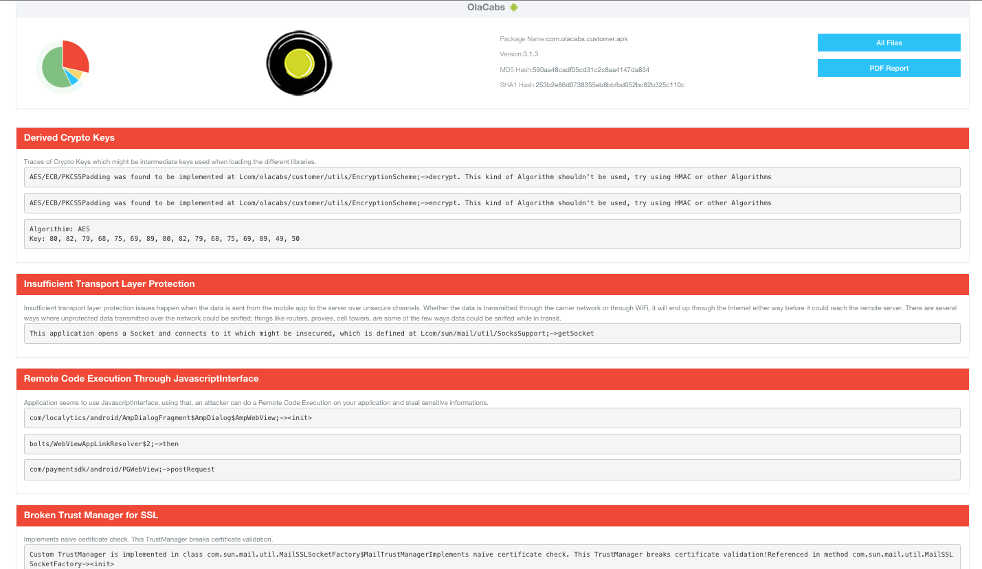 Ola Appknox scan