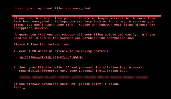petya ransomware message