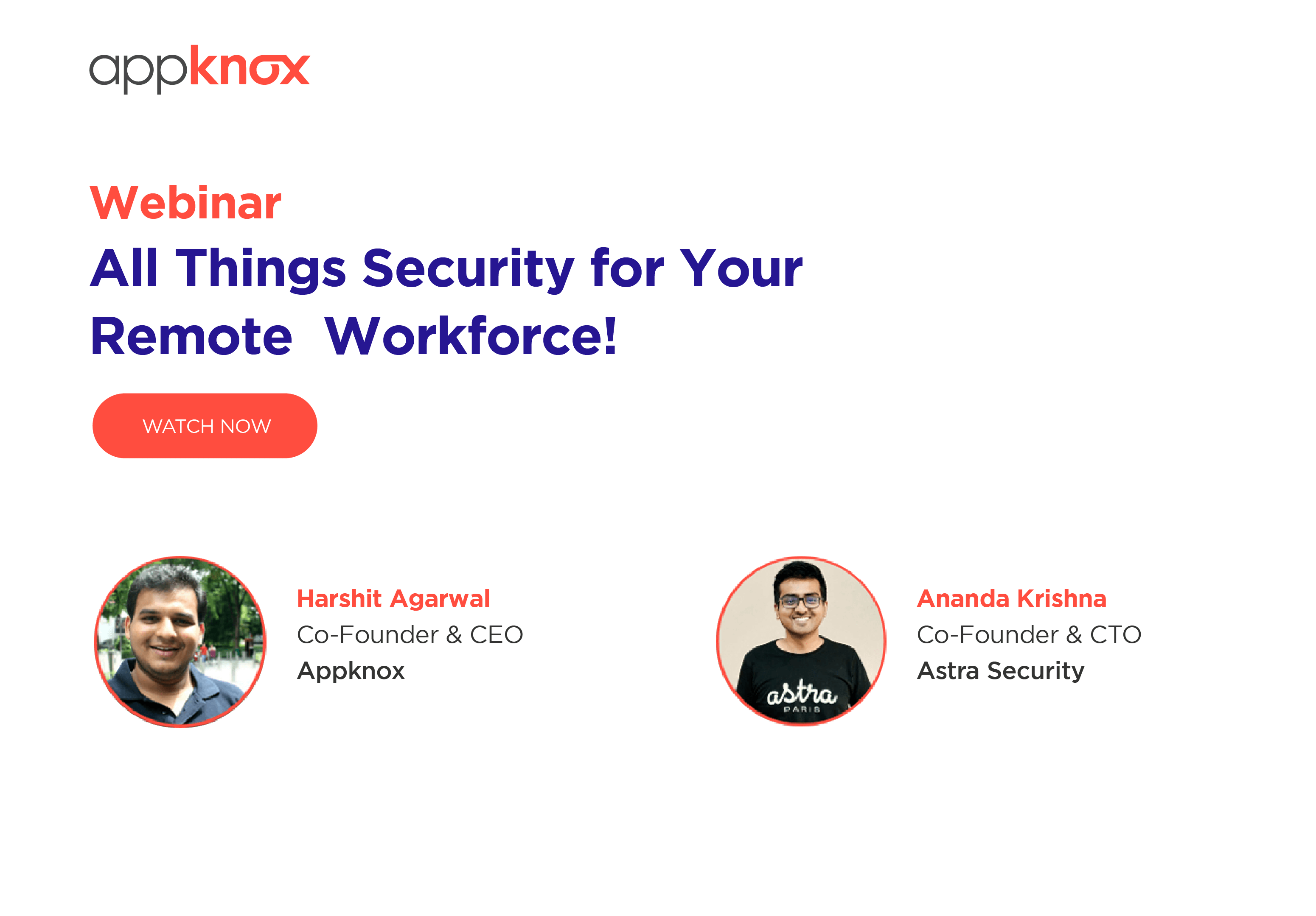 WEBINAR - All Things Security for Your Remote  Workforce