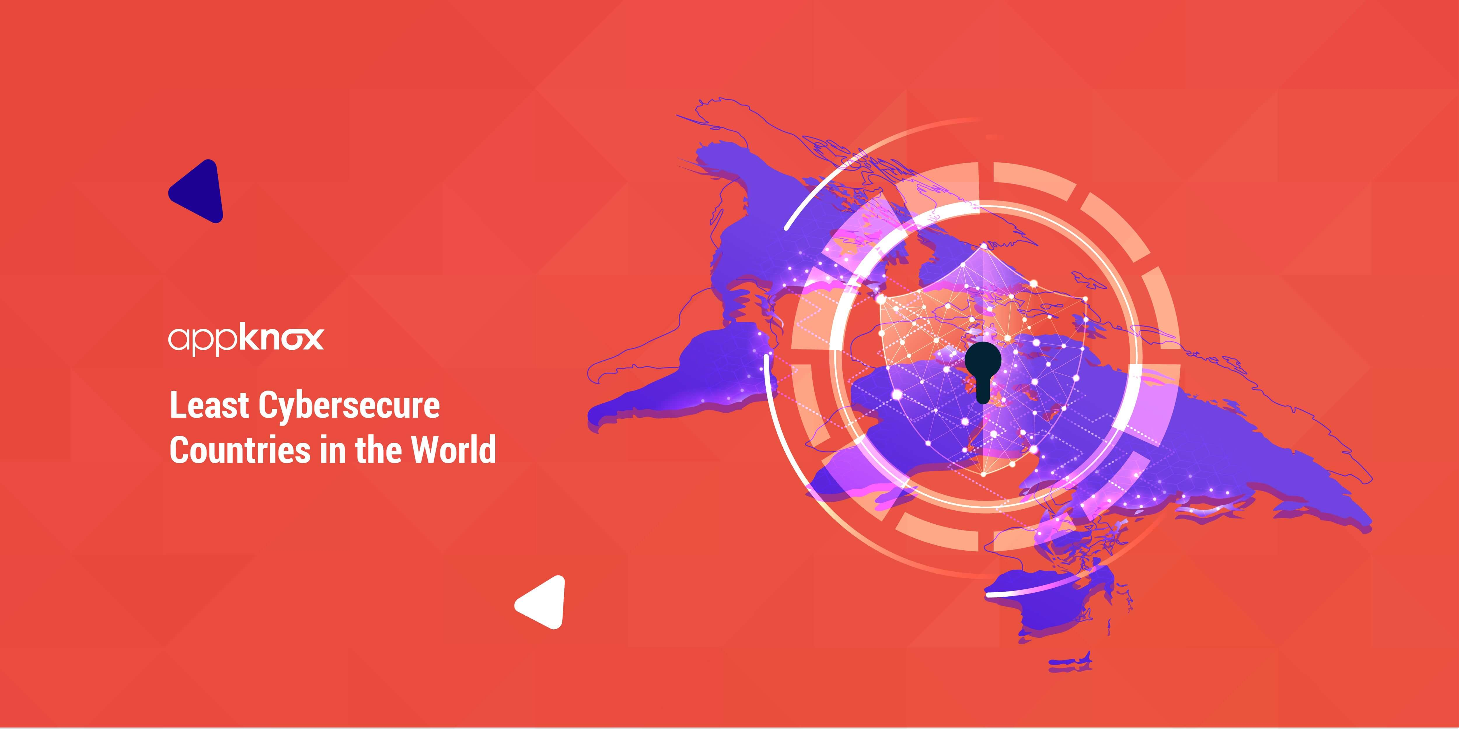 Least cyber secure countries in the world