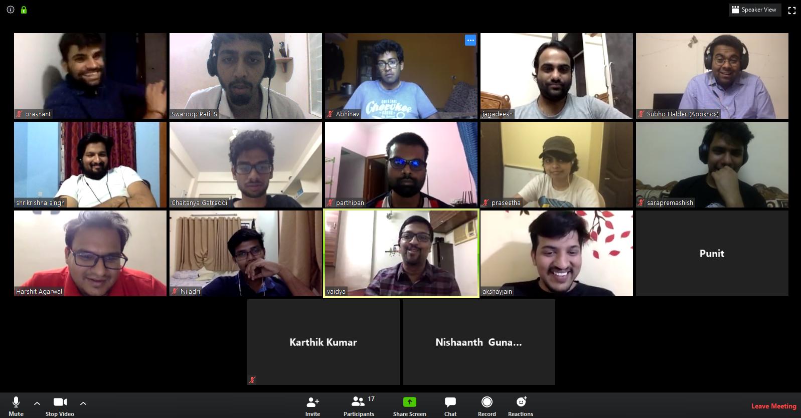 Appknox team meeting