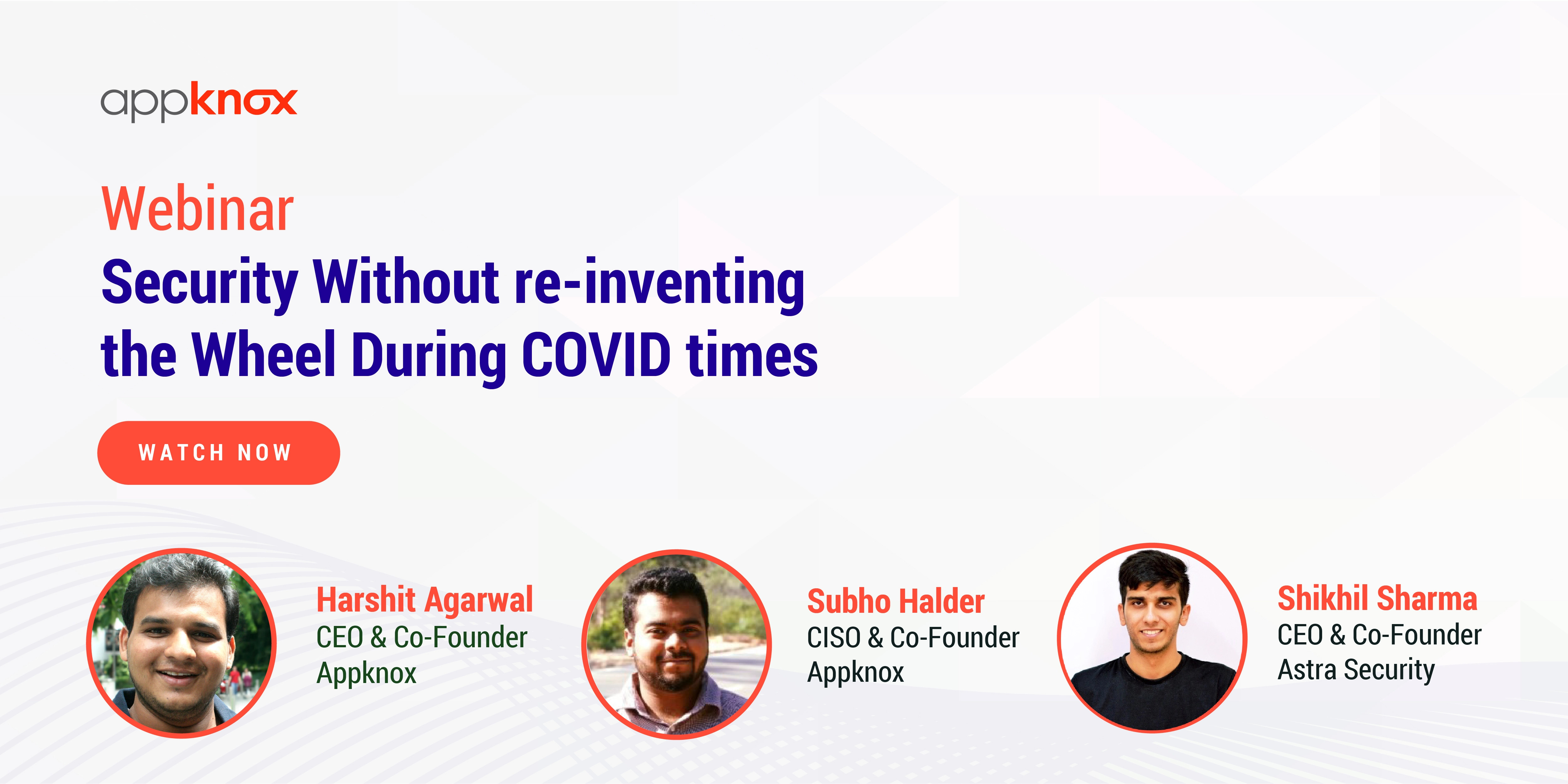 Security without re-inventing the wheel during COVID times